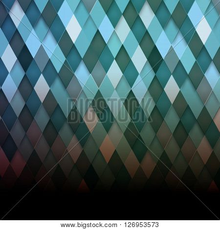 Abstract rhombus background. Vector. Clip - art
