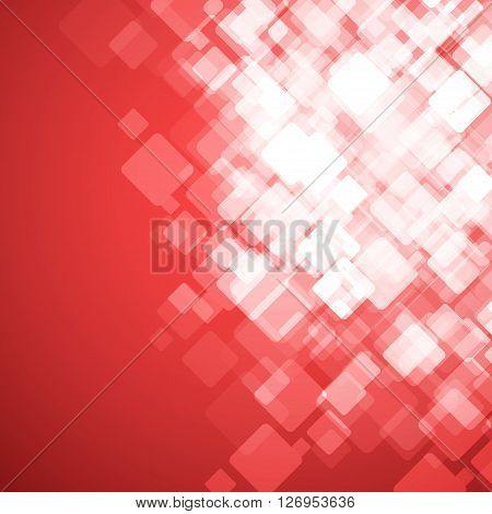 Abstract Square Red Background. Vector Illustration