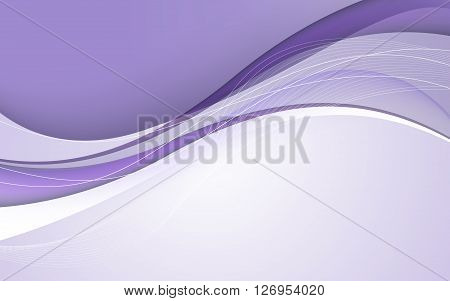 Abstract Lilac Waves - Data Stream Concept. Vector