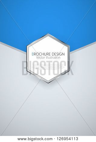 Business Brochure Cover Design Template. Vector