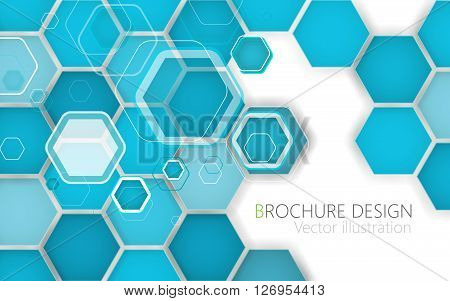 Technology Cell Abstract Background. Vector Illustration