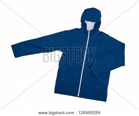 Wind jacket isolated on the white background