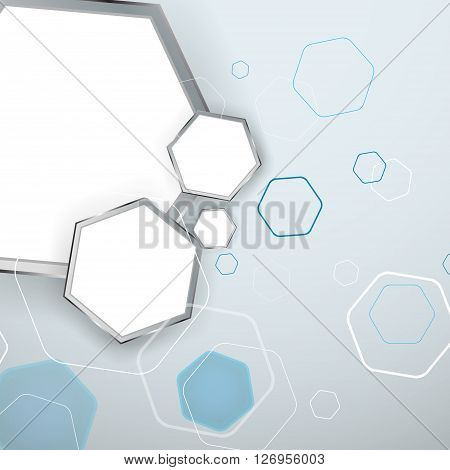 Abstract Light Background Hexagon. Vector Illustration