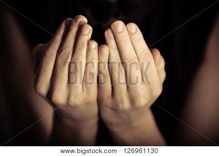 Palms Up In Prayer