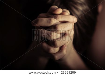 Hands Folded Together In Prayer