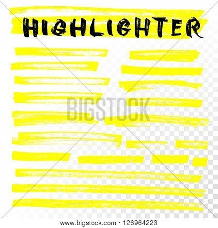 Vector highlighter brush lines.