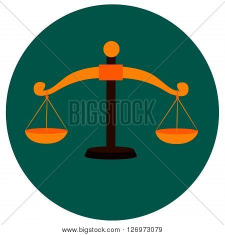 Stock Vector Illustration of Weighing Scale Icon