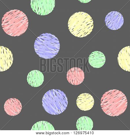 Sweet Watercolor Bubbles. Seamless Texture for background image on websites e-mails etc.