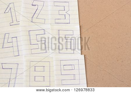 The Numbers On The Old Grunge Paper
