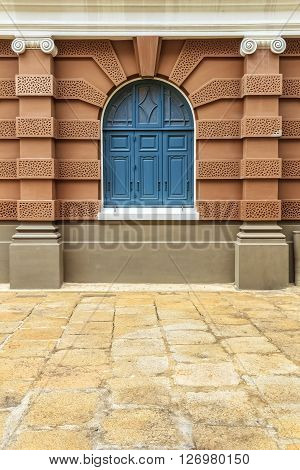 Arch Window in European Architecture style Building