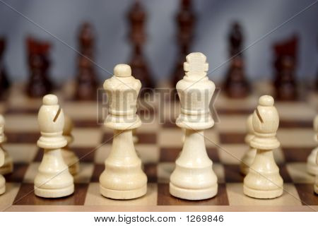 White'S  Chess Pieces Facing Black'S