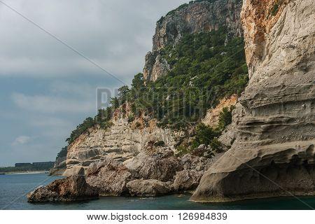 Mediterranean cost next to Kemer, Turkey in the spring