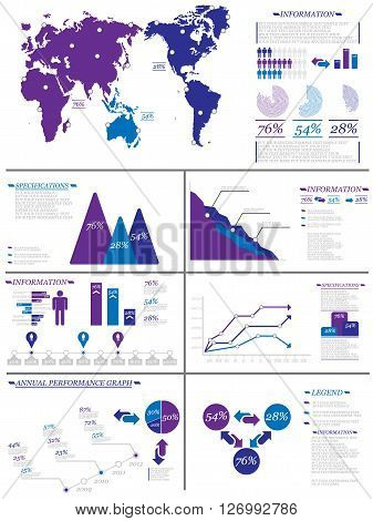 INFOGRAPHIC DEMOGRAPHICS 8 PURPLE for web and other