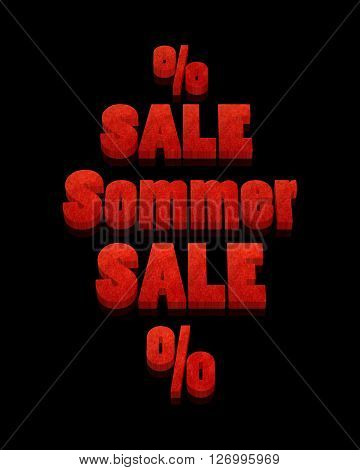Sommer Sale - 3D Word with Reflection !