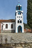 Orthodox church in village of Potamia, Thassos island,  East Macedonia and Thrace, Greece poster