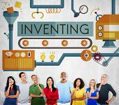 Inventing Innovation Create Creative Process Concept poster