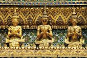 Thai traditional angle in Wat Phra Kaew Temple , bangkok Thailand poster