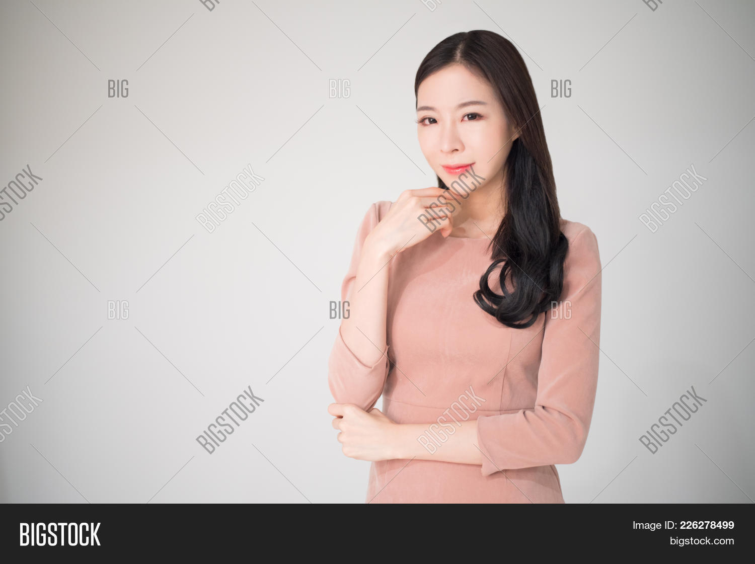 beautiful asian woman happy smile image & photo | bigstock