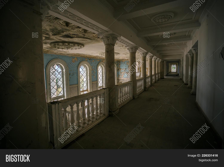 Inside Of Old Creepy Abandoned Mansion Former Sanatorium Gagripsh Gagra Abkhazia