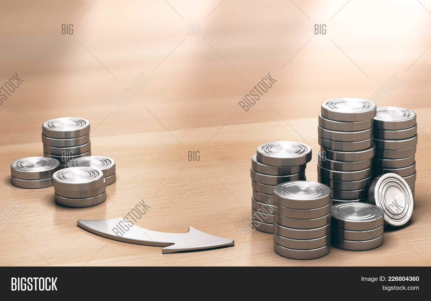Two Piles Coins Image Photo Free Trial Bigstock