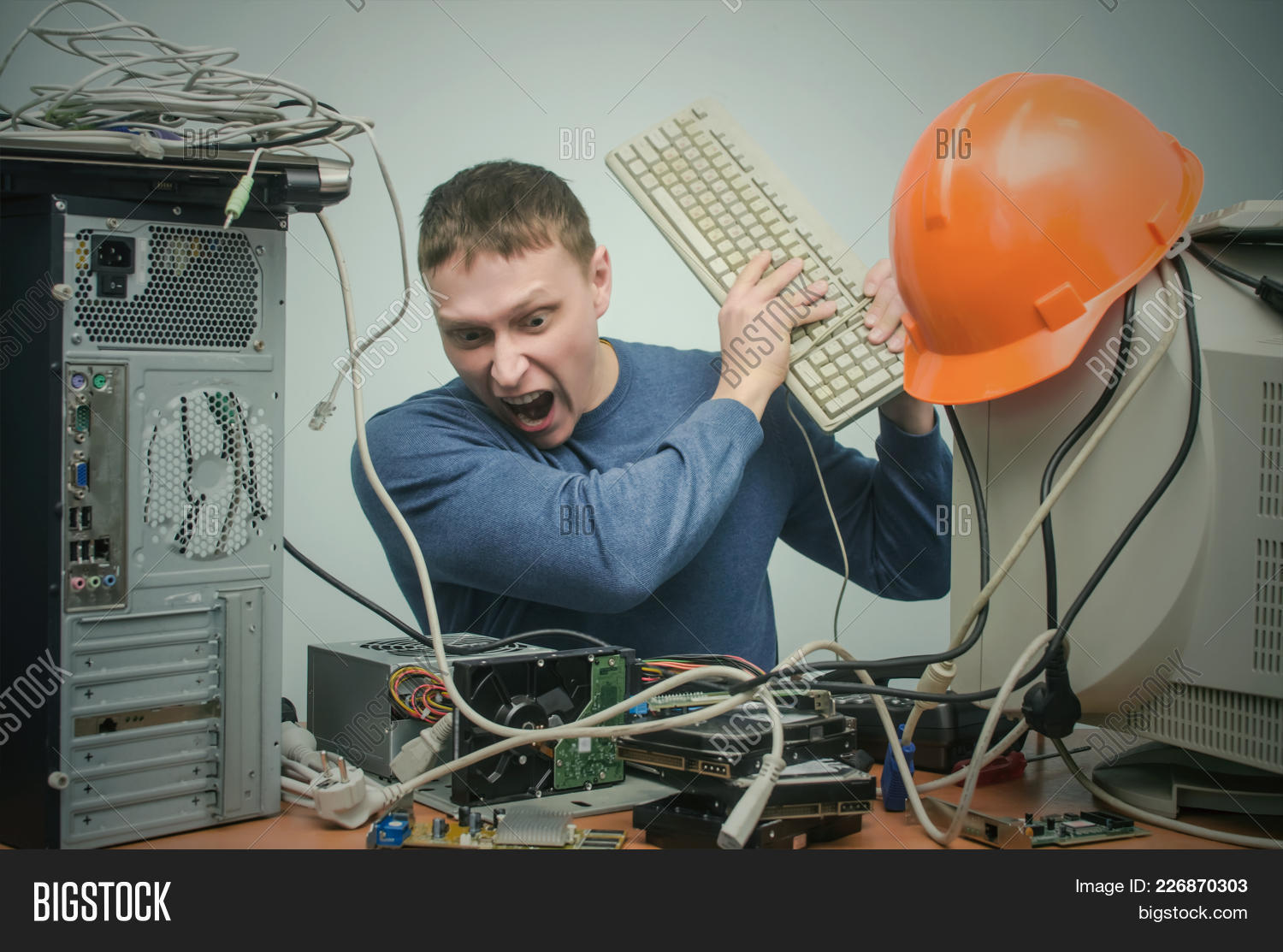 Overworked Tired Angry Image & Photo (Free Trial) | Bigstock