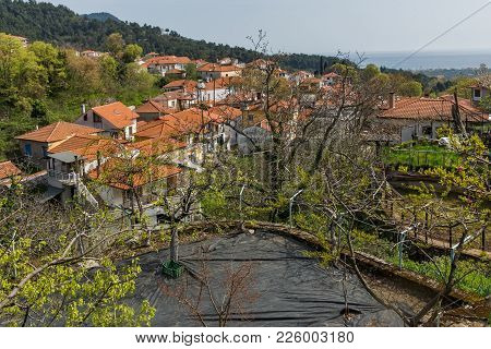 Amazing Panorama To Village Of Potamia, Thassos Island,  East Macedonia And Thrace, Greece