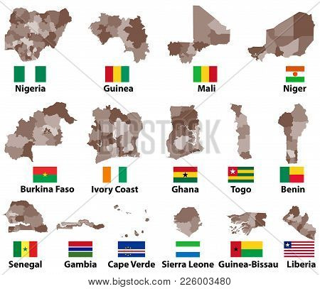Vector Maps Flags Western Africa Vector Photo Bigstock