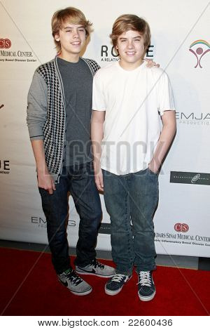 LOS ANGELES - JUN 14: Cole Sprouse and brother Dylan Sprouse at the Rock-N-Reel event held at Culver Studios in Los Angeles, California on June 14, 2009