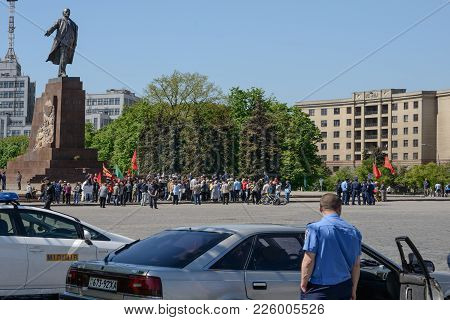 Kharkiv, Ukraine - May 03, 2014:people Protest In The Square Of Government Palace After The Maidan