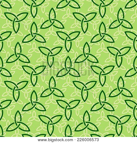 Green Celtic Style Seamless Pattern