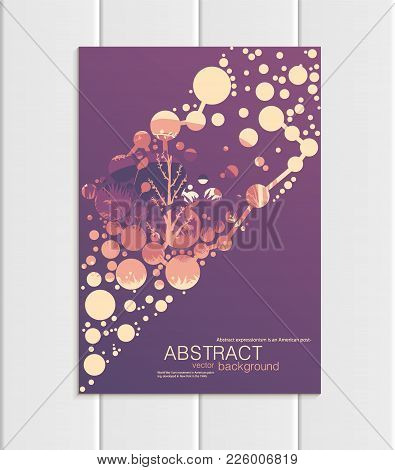 Stock Vector Illustration Design Corporate Identity Style Business Template With Abstract Circles An