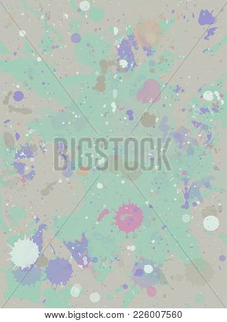Watercolor Paint Splashes Background