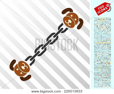 Puppy Blockchain Icon With 7 Hundred Bonus Bitcoin Mining And Blockchain Pictograms. Vector Illustra