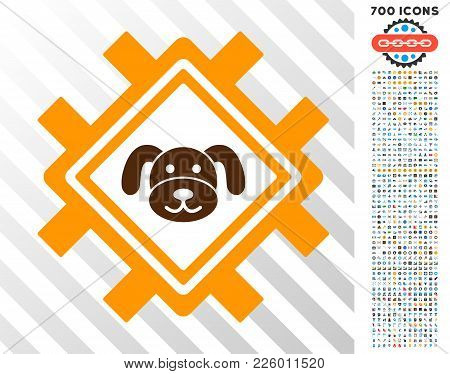 Puppycoin Mining Pool Pictograph With 700 Bonus Bitcoin Mining And Blockchain Graphic Icons. Vector