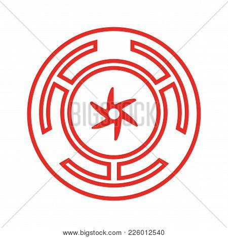 Goddess Hecate Also Known As Triple Goddess Crone Or Trivia Vector Symbol. Hecate Wiccan Sign Or Sea