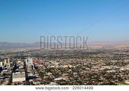 View On Las Vegas From Stratosphere Tower. Las Vegas Skyline.