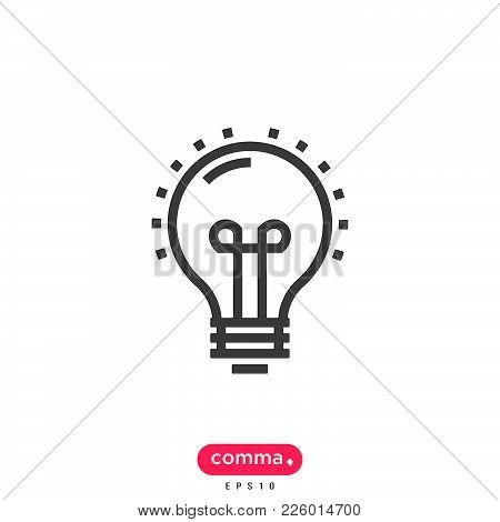 Bulb Icon Isolated On White Background. Bulb Icon Modern Symbol For Graphic And Web Design. Bulb Ico
