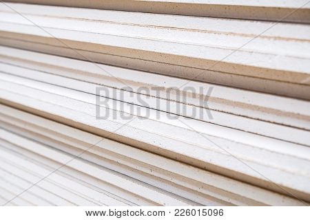 Photo Of A Stack Of Drywall From Close Range