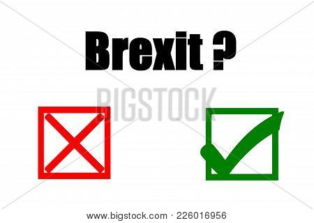 Concept Of Illustration On Public Referendum - Brexit- Yes Or No