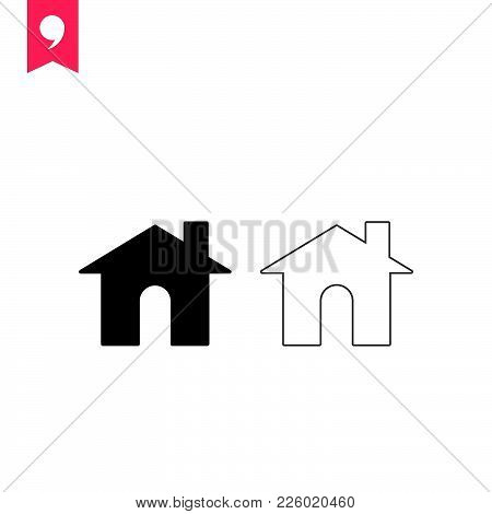 Home  Icon Isolated On White Background. Home Icon Modern Symbol For Graphic And Web Design. Home Ic