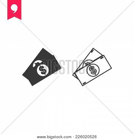 Money  Icon Isolated On White Background. Money Icon Modern Symbol For Graphic And Web Design. Money