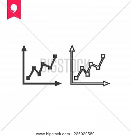Chart Icon Isolated On White Background. Chart Icon Modern Symbol For Graphic And Web Design. Chart