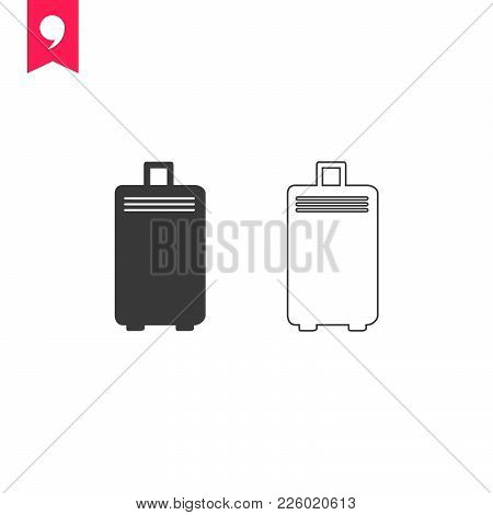 Travel Bag  Icon Isolated On White Background. Travel Bag Icon Modern Symbol For Graphic And Web Des