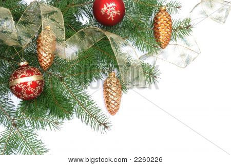 Christmas Tree And Ornaments Decorations