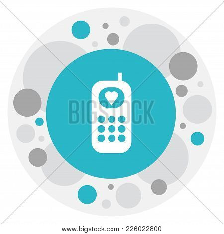 Vector Illustration Of Kin Symbol On Phone Icon. Premium Quality Isolated Telephone Element In Trend