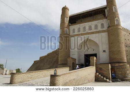 The Entrance Gate To The Old City Of Bukhara, Uzbekistan