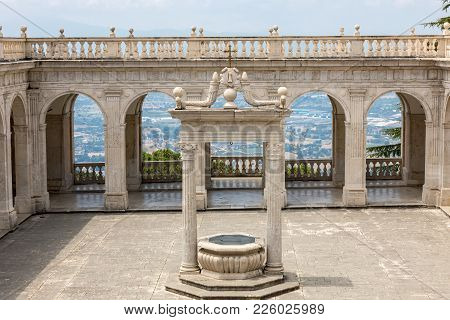 Montecassino, Italy - June 17, 2017: Cistern In The Cloister Of Bramante, Benedictine Abbey Of Monte