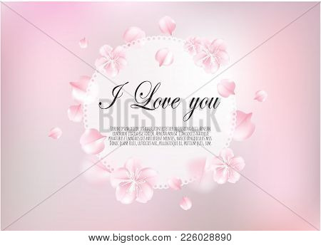 Valentines Day Sale Background With Heart. Vector Illustration. Wallpaper, Flyers, Invitation, Poste