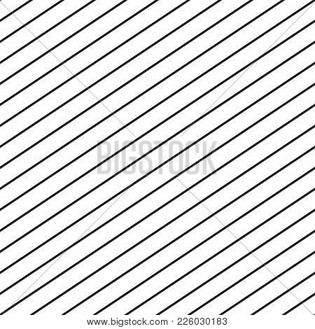 Vector Seamless Stripe Pattern. Thin Diagonal Parallel Lines Repeat Texture. Simple Striped Geometri