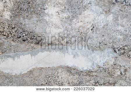 Embossed, Grey Concrete Wall, Texture Background For Any Surpose